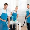Icon 46805084 group of happy janitors cleaning office with cleaning equipments stock photo